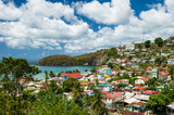 Village of Canaries on Saint Lucia in the Caribbean