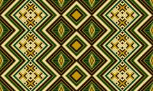 African, Aztec Geometric Seamless Pattern. Kente Cloth. Ethnic Colorful Print.