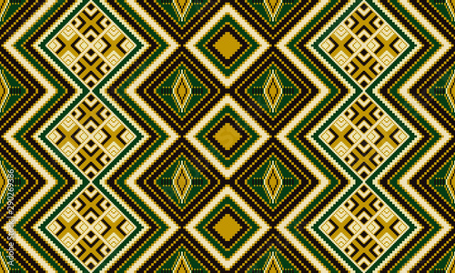 African, Aztec geometric seamless pattern Wallpaper Mural