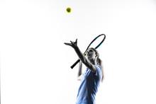 Teenager Tennis Player Girl Ov...