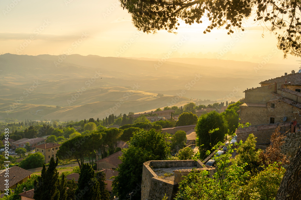 Fototapety, obrazy: Panoramic view from Volterra, Tuscany