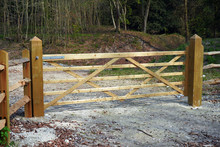 New Wooded Fence And Gate