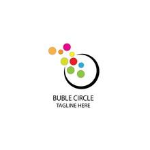 Buble Circle Logo Illustration...