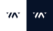Abstract Letter WV Logo. This ...