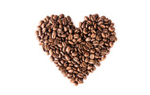 Roasted Coffee Beans With Hear...