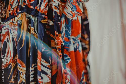 Fotobehang Paradijsvogel Shopping Dresses