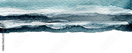 Abstract watercolor brush stroke painted background. Texture paper. Isolated.