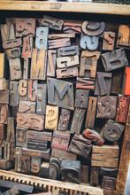 Alphabet In Old Wood Type