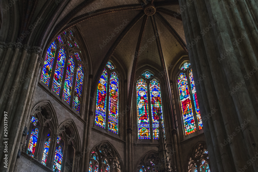 Fototapety, obrazy: Gothic Sainte-Marie cathedral in the center of Bayonne in France