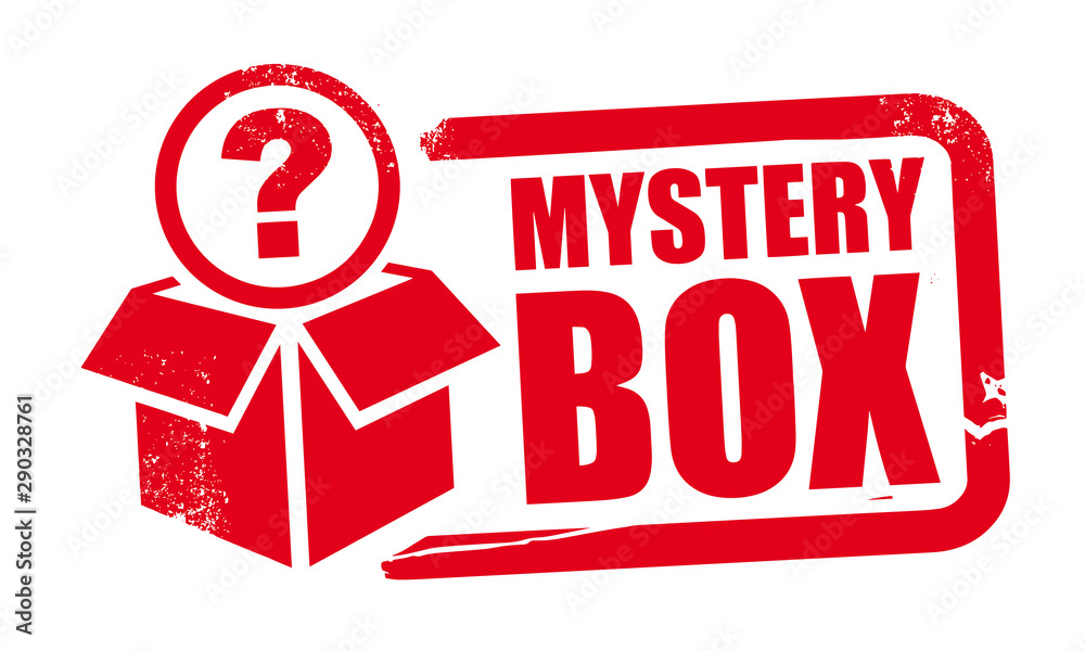 Fototapeta mystery box rubber stamp template with question mark