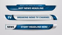 Graphic Set Of Broadcast News ...