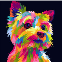 Cute And Funny Dog Vector Pop Art Full Colours