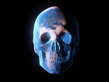 3d Rendered Abstract Illustration Of A Skull Planet