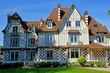 Vernouillet; France - may 6 2019 : picturesque Maison des Buissons