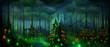 Fantasy landscape Dark Elf forest