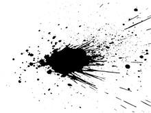 Black Paint, Ink Splash, Brush...