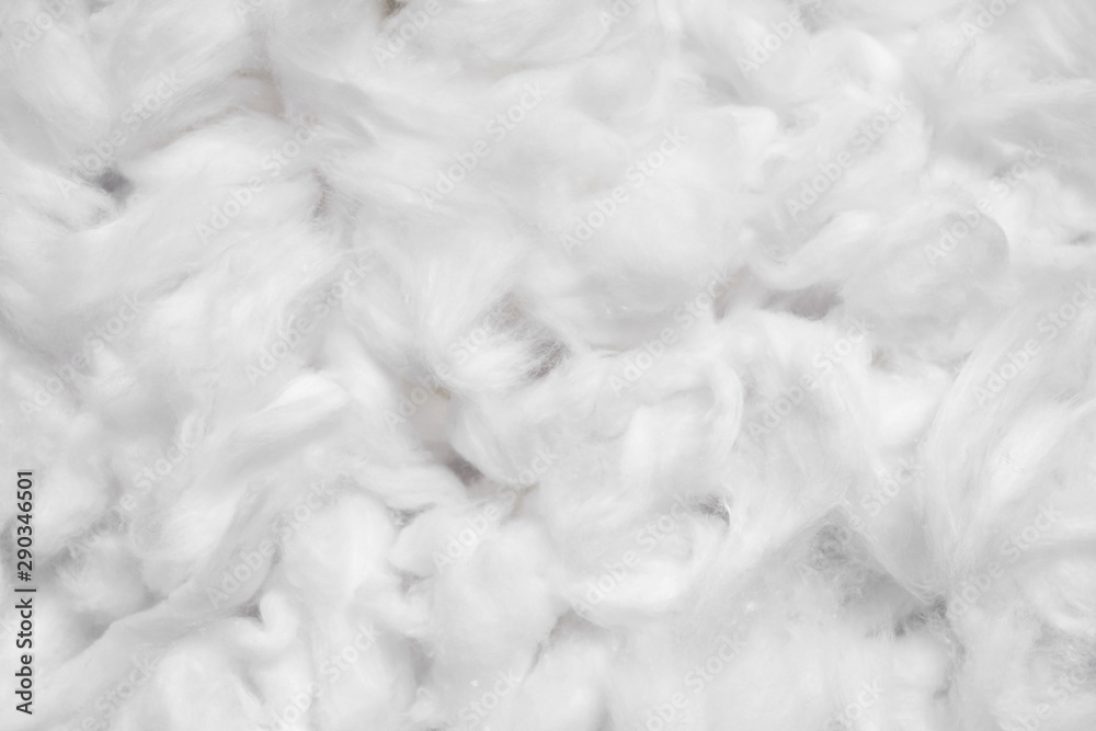 Fototapety, obrazy: Cotton soft fiber texture background, white fluffy natural material