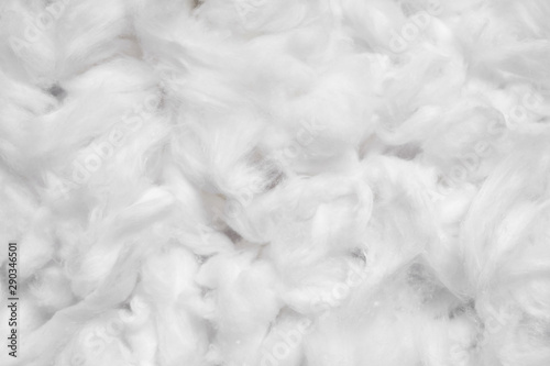 Fototapeta  Cotton soft fiber texture background, white fluffy natural material