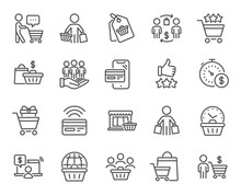 Buyer Customer Line Icons. Con...