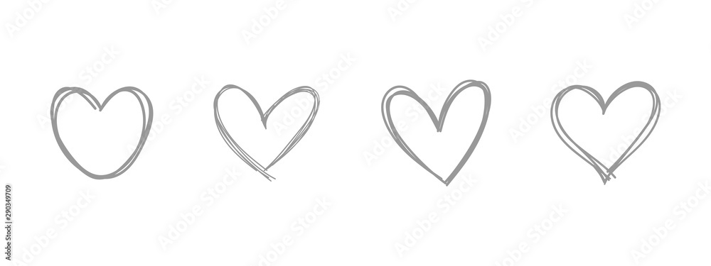 Fototapeta Heart doodle. Hand drawn love symbol.