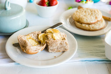 Easter Hot Cross Buns With Butter