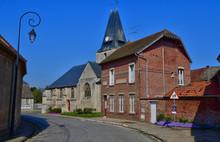 Boury En Vexin, France - April 3 2017 : Picturesque Village In Spring