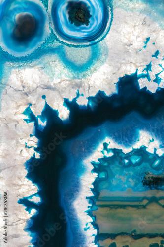 Deurstickers Kristallen Blue agate background