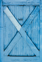 Turquoise Blue Wooden Door Wit...