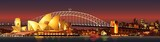 Fototapeta Miasto - sydney harbour bridge at night