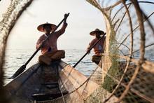 Two Traditional Shan Fishermen...