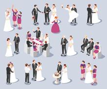 Wedding Isometric Icons
