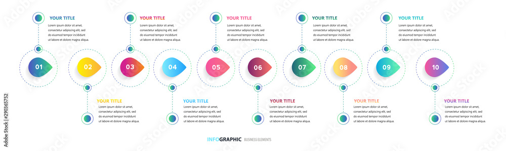 Fototapety, obrazy: Time line, Presentation business can be used for Business concept with 12 options, Timeline business for 12 months, 1 year, Timeline infographics design vector, steps or processes.