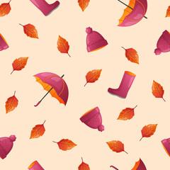 Autumn season seamless pattern.