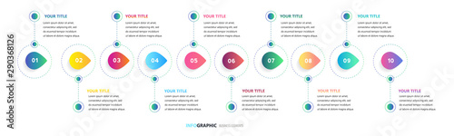 Fotografia  Time line, Presentation business can be used for Business concept with 12 options, Timeline business for 12 months, 1 year, Timeline infographics design vector, steps or processes