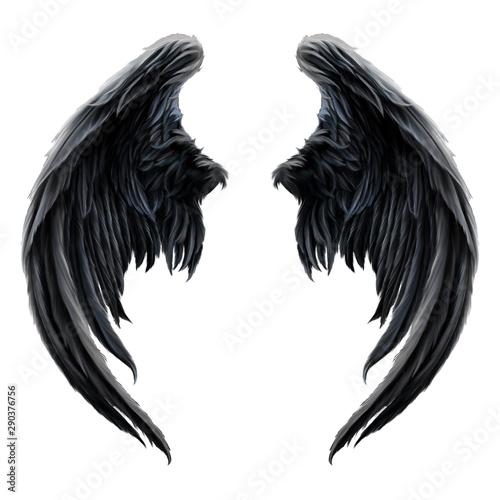 Schwarze Engelsflügel - 290376756