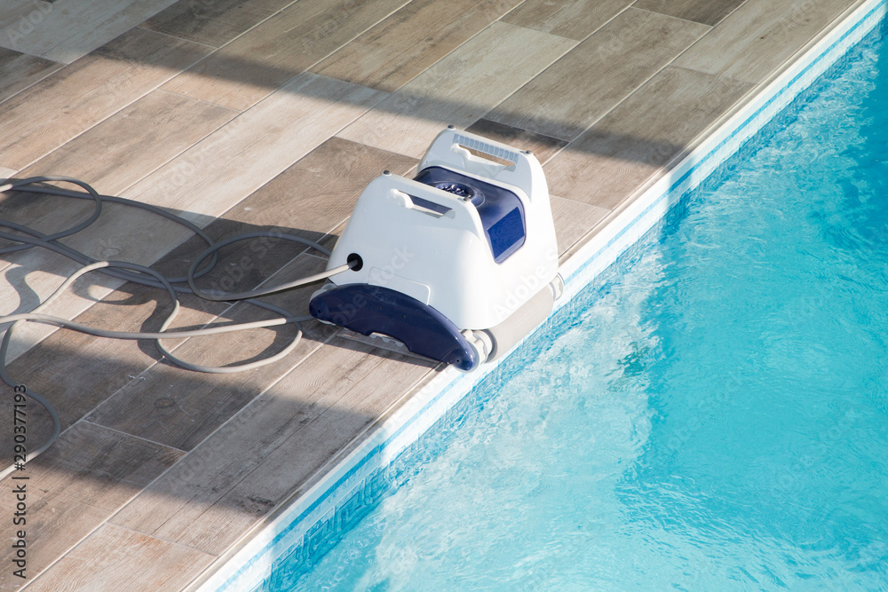 Fototapety, obrazy: Pool cleaner robot for cleaning swimming pool