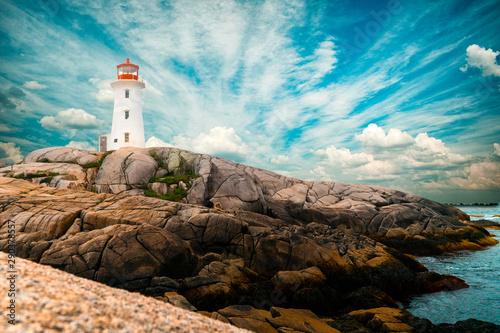 Obraz Peggys Point lighthouse - fototapety do salonu