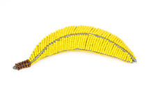 Beaded Wire Banana Cutout