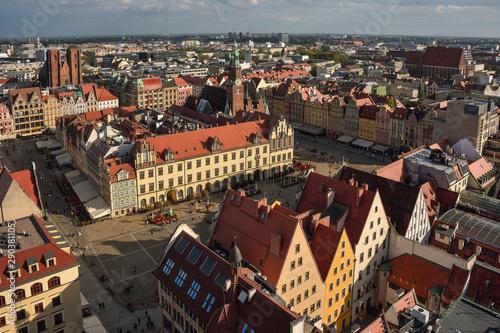 Fototapeta Wrocław - panorama miasta obraz