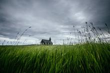 Scenic Image Of Budakirkja Church. Location Budir, Snafellsnes Peninsula, Iceland, Europe.