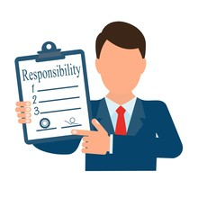 Responsibility Of The Parties. Vector Image On A White Background.