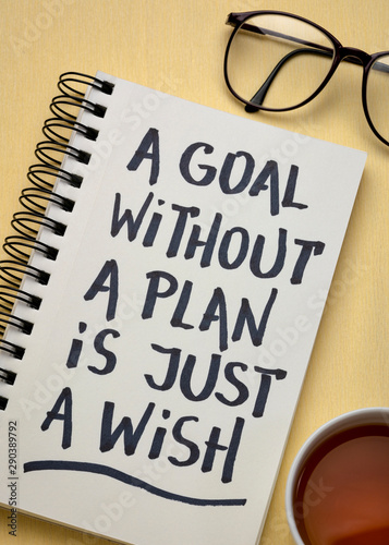 goal without plan is just wish Canvas Print