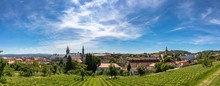 Panorama View Of Of Bamberg Old Town On Sunny Day From Michaelsberg