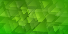Abstract Background Of Intersecting Triangles And Polygons In Green Colors