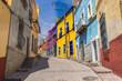 Guanajuato, Mexico, scenic colorful streets in historic city center