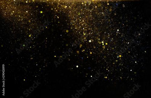 Fotografia  glitter vintage lights background. defocused