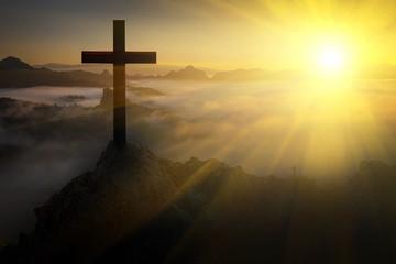 The crucifix symbol of Jesu...