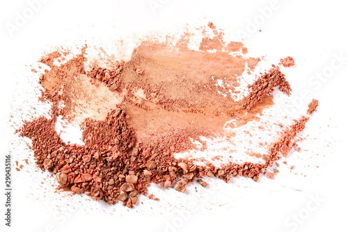 Fényképezés  Face powder in ball makeup isolated on white background, top view