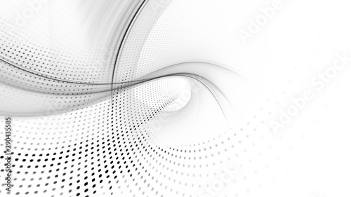 La pose en embrasure Fractal waves Abstract background element. Fractal graphics series. Composition of glowing lines and mosaic halftone effects. Wide format high resolution image. 3d illustration