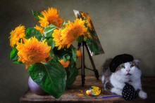 Still Life With Bouquet Of Sun...